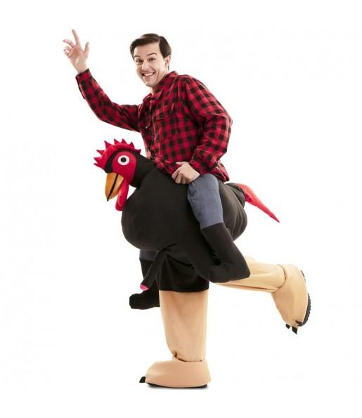 Disfraz de Gallo Exhibicionista a hombros para adulto