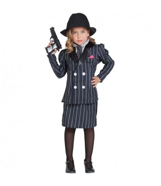 Disfraz de Gánster Chicago para niña
