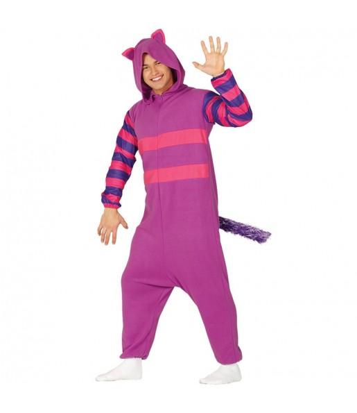Disfraz de Gato Cheshire de Alicia adulto