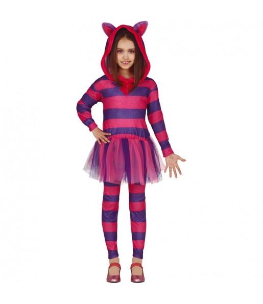 Disfraz de Gato Cheshire para niña