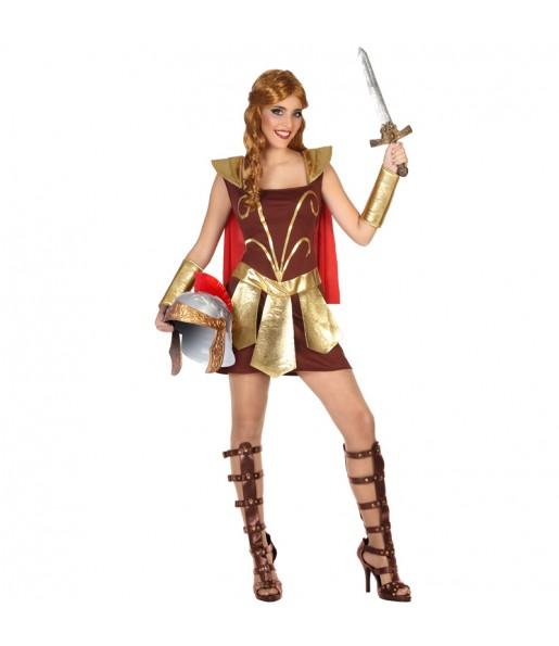 Disfraz de Gladiadora Romana para mujer