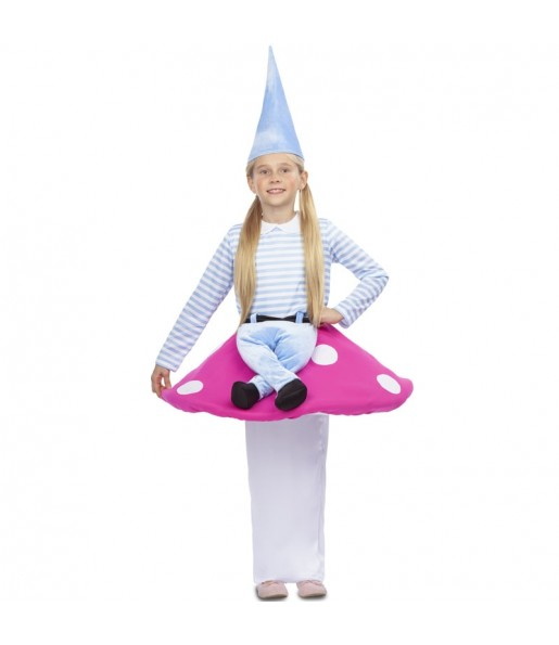 Disfraz de Gnomo sobre Seta para niños