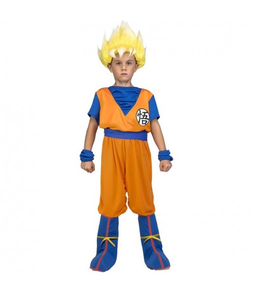 Disfraz de Goku Super Saiyan para niño Dragon Ball