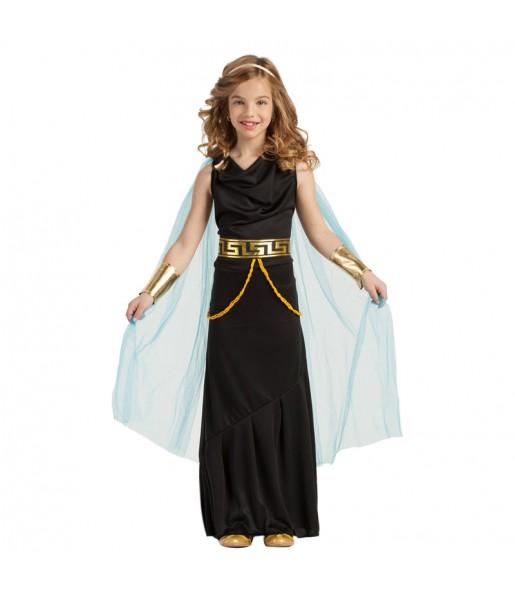 Disfraz de Griega Negra para niña