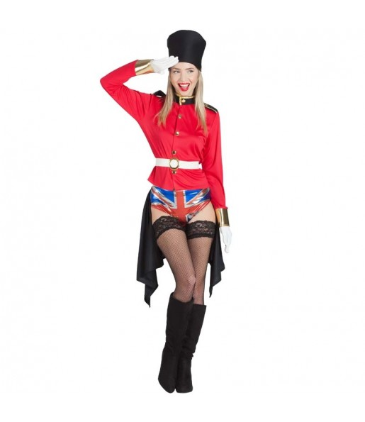 Disfraz de Guardia Real Inglesa Picante para mujer