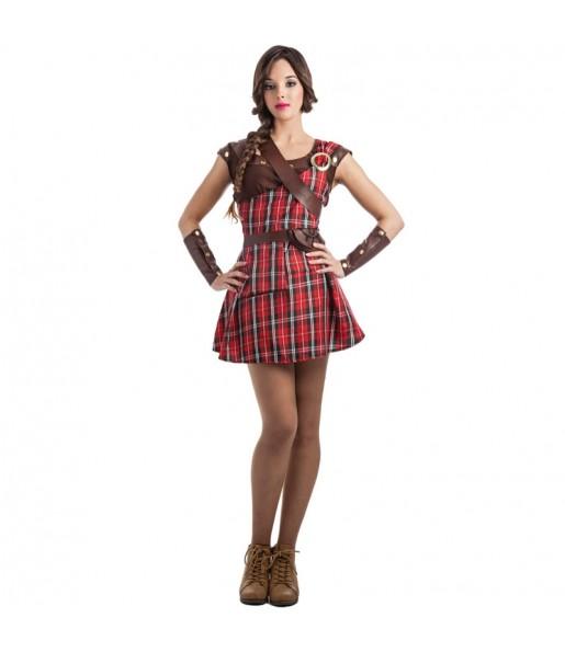 Disfraz de Guerrera Escocesa Braveheart para mujer