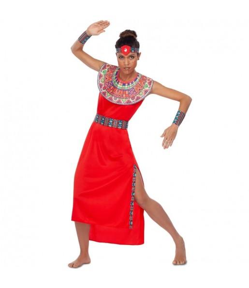 Disfraz de Guerrera Tribu Masái para mujer