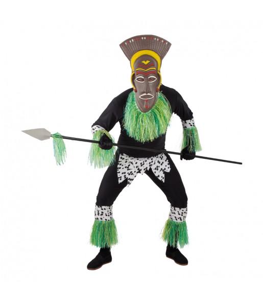Disfraz de Guerrero Zulú adulto