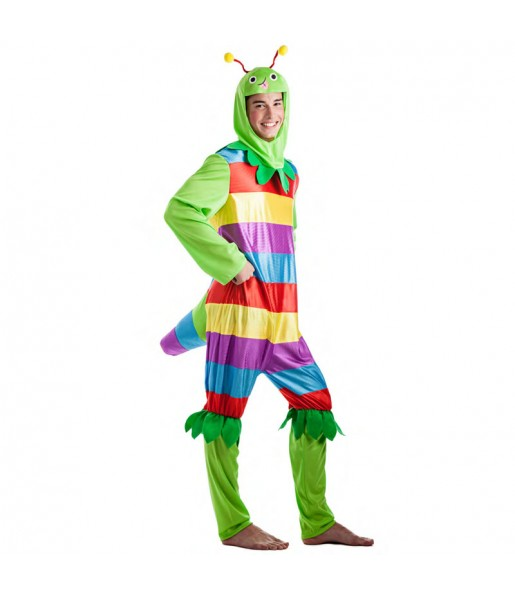 Disfraz de Gusanito multicolor para hombre