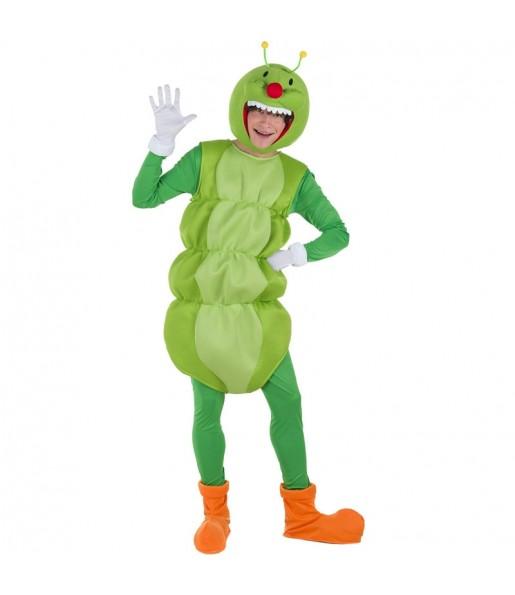 Disfraz de Gusano Verde para adulto