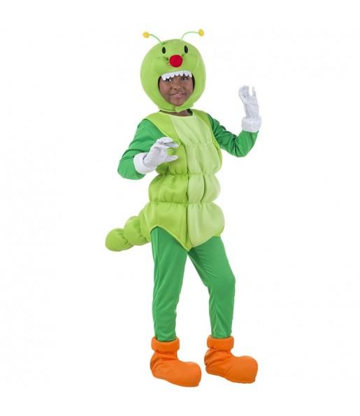 Disfraz de Gusano Verde para niño