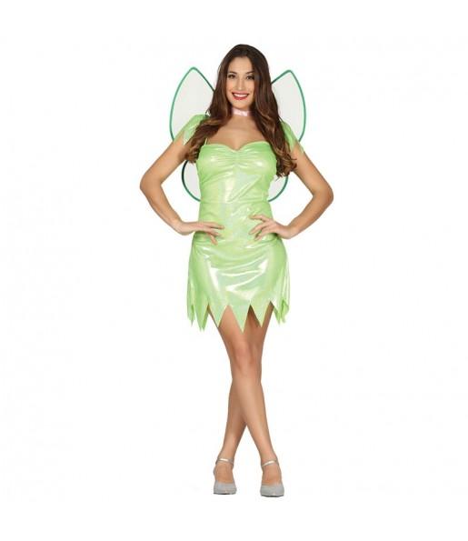 Disfraz de Hada Verde Campanilla Adulto