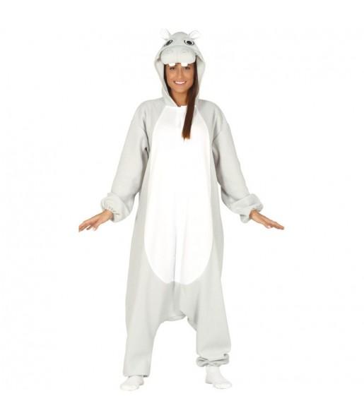 Disfraz de Hipopótamo kigurumi para mujer