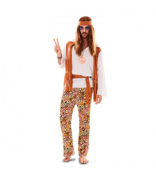 Disfraz de Hippie Chaleco hombre