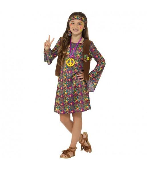 Disfraz de Hippie Folk para niña