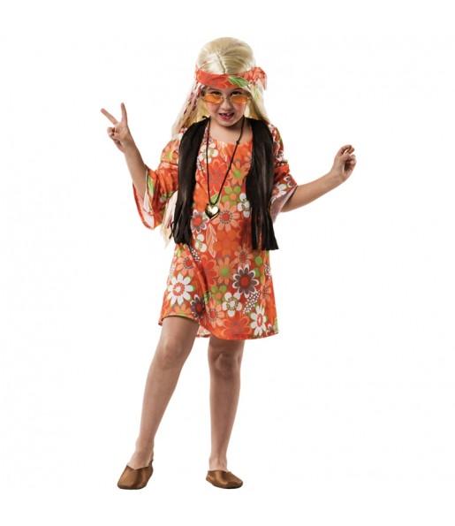 Disfraz de Hippie Marrón niña
