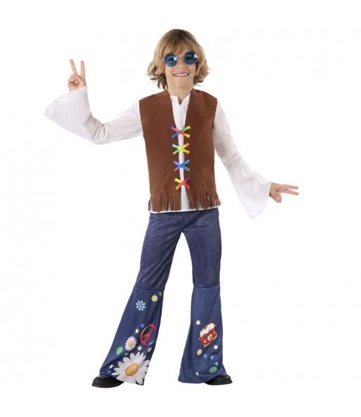 Disfraz de Hippie Sesentero para niño