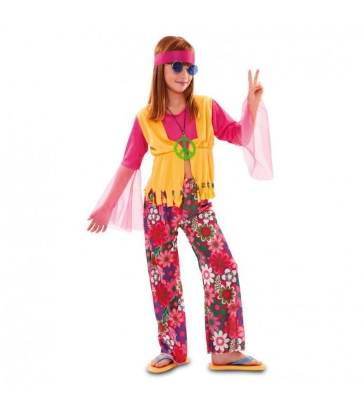 Disfraz de Hippy Chaleco niña