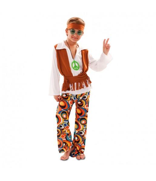 Disfraz de Hippy con chaleco para niño