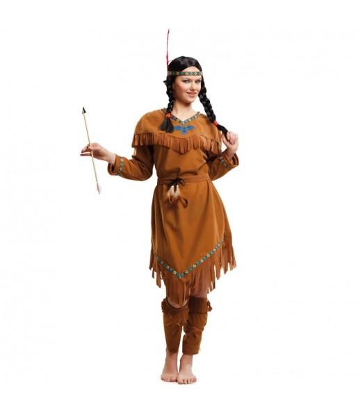 Disfraz de India Americana para mujer