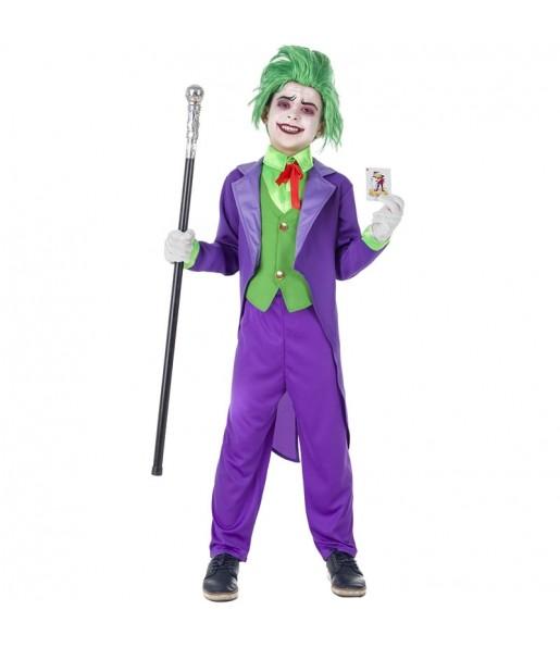 Disfraz de Joker Supervillano para niño
