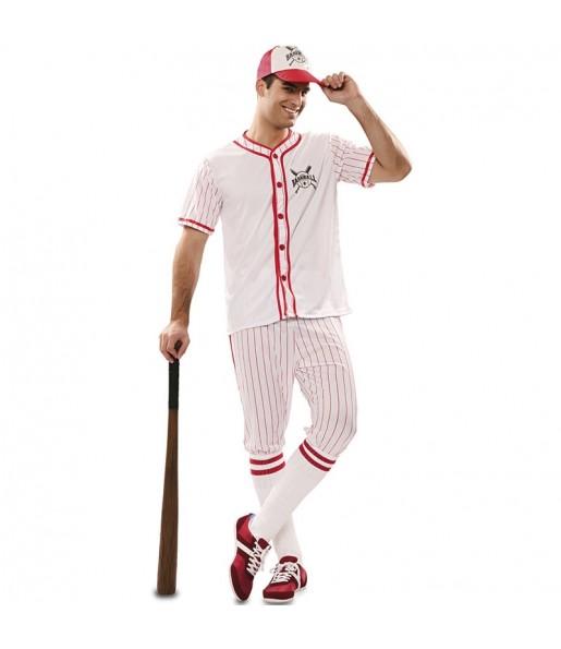 Disfraz de Jugador de Béisbol retro para hombre