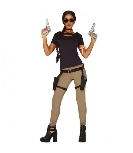 Disfraz de Lara Croft para mujer