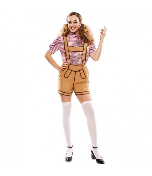 Disfraz de Lederhose Oktoberfest para mujer