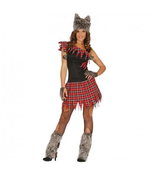 Disfraz de Loba Escocesa para mujer