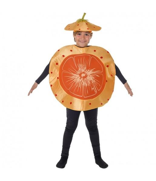 Disfraz de Mandarina Naranja para niños