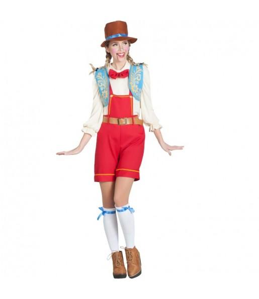 Disfraz de Pinocho Marioneta para mujer