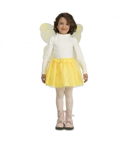 Disfraz de Mariposa Amarilla para niña