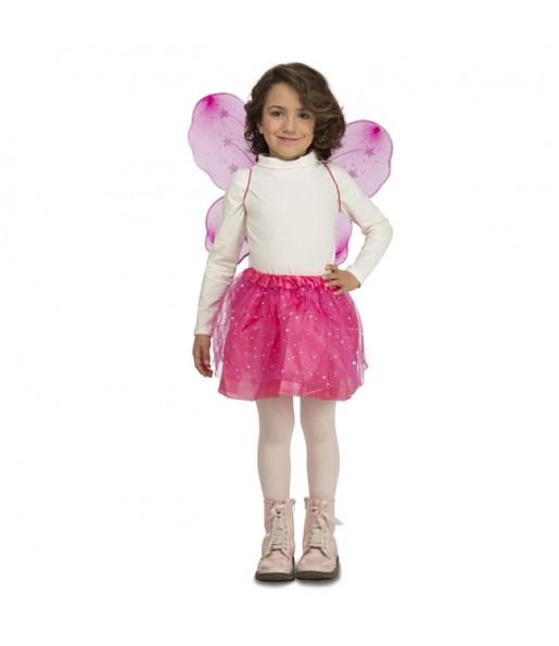 Disfraz de Mariposa Fucsia para niña
