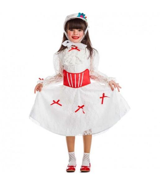 Disfraz de Mary Poppins Blanco para niña