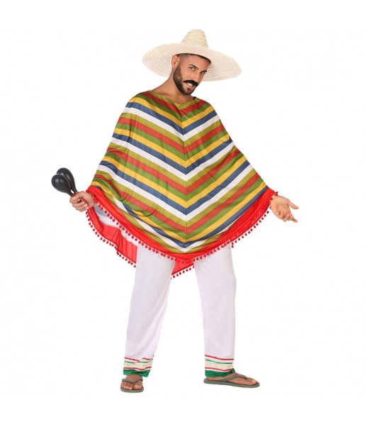 Disfraz de Mejicano Multicolor