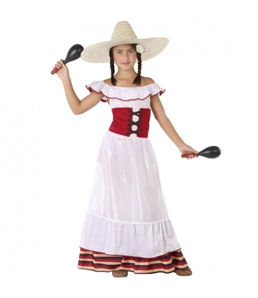 Disfraz de Mexicana Blanca para niña