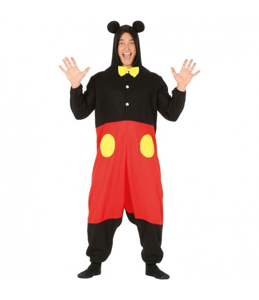 Disfraz de Mickey Mouse kigurumi para hombre