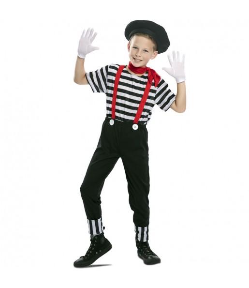 Disfraz de Mimo Circo para niño