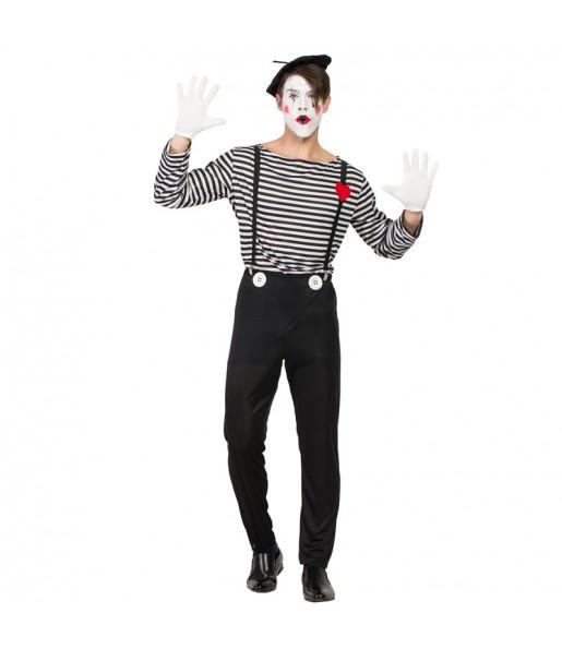 Disfraz de Mimo Clown para hombre
