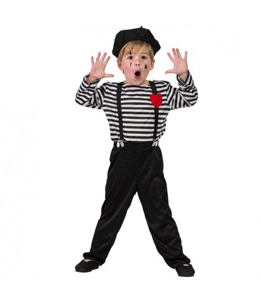 Disfraz de Mimo Clown para niño
