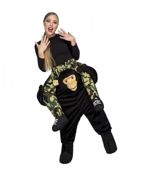 Disfraz de Mono Chimpancé a hombros para adulto