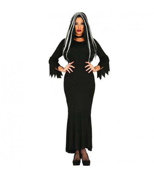 Disfraz de Morticia Addams para mujer