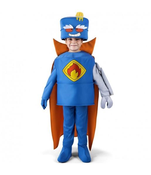 Disfraz de Mr. King de los SuperZings para niño