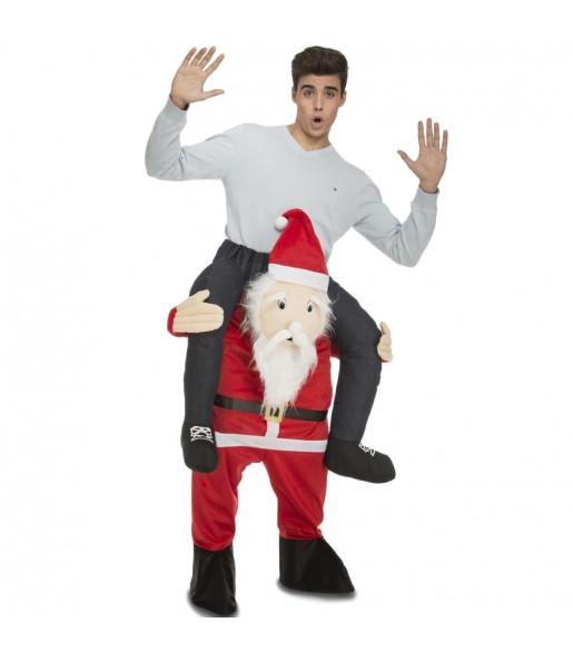Disfraz de Papá Noel a hombros adulto
