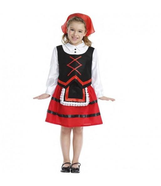 Disfraz de Pastora Navidad para niña