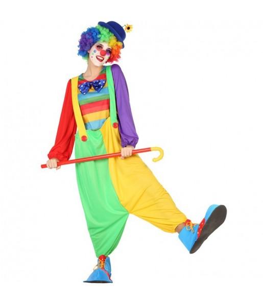 Disfraz de Payasa Circo para mujer