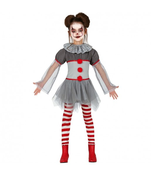 Disfraz de Payasa Mala para niña