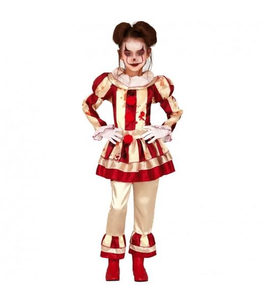 Disfraz de Payasa Perturbada para niña