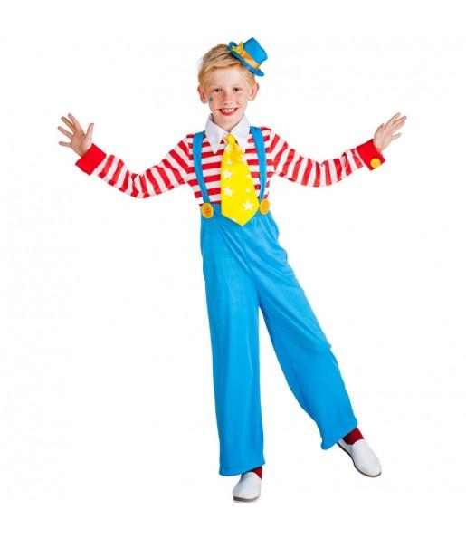 Disfraz de Payaso con tirantes para niño