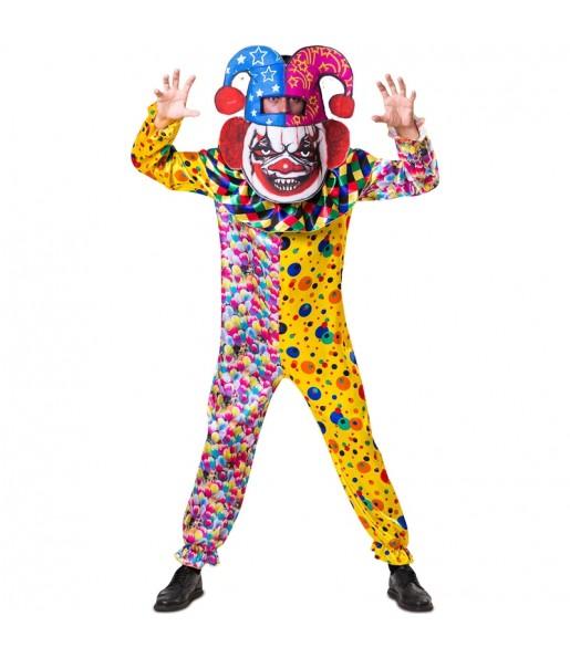 Disfraz de Payaso Killer Clown cabezudo para adulto